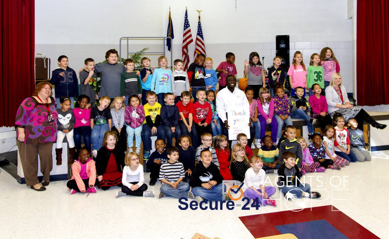 Agents of Hope and Secure-24 at Fountain Elementary in Roseville, Michigan